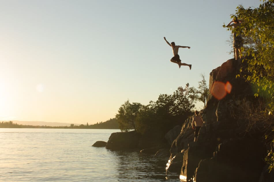 faith and jumping into water - recovery