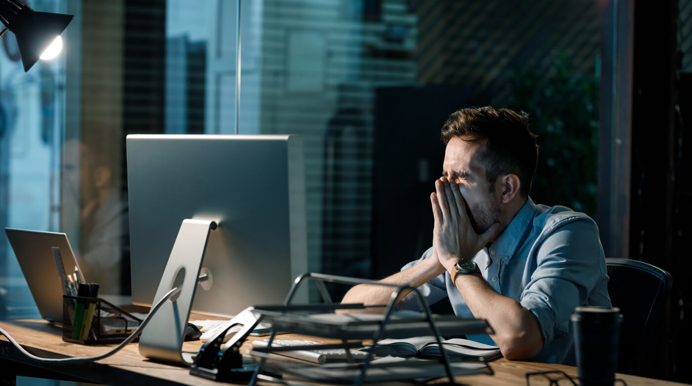 Mental exhaustion or burnout